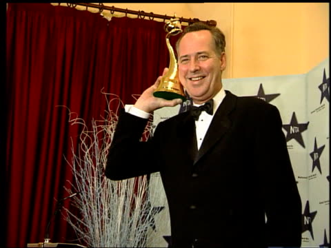 stuart lubbock death inquest records open verdict; lib london: tv entertainer michael barrymore posing for photocall with award - michael barrymore stock-videos und b-roll-filmmaterial