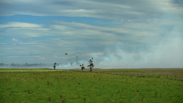Stubble burning for farmland crop rotation New Zealand