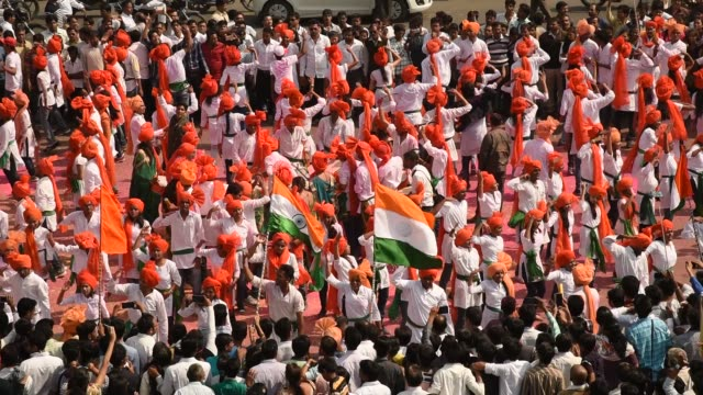 student celebrating the india republic day - patriotism stock videos & royalty-free footage