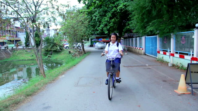 Student cycling