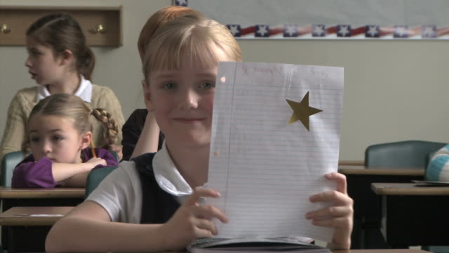 student gets a star - see other clips from this shoot 1148 stock videos & royalty-free footage