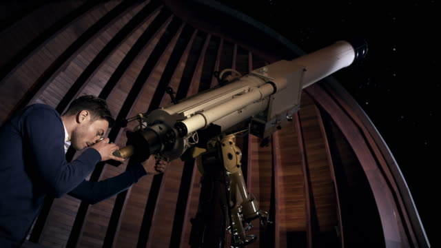 Student in observatory