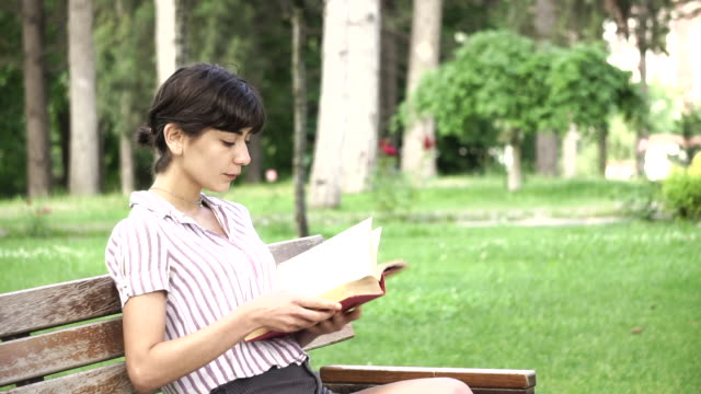 student is reading a book, drinking coffee in the formal garden - seat stock videos & royalty-free footage