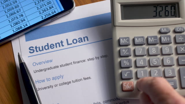 student loan document. - debt stock videos & royalty-free footage