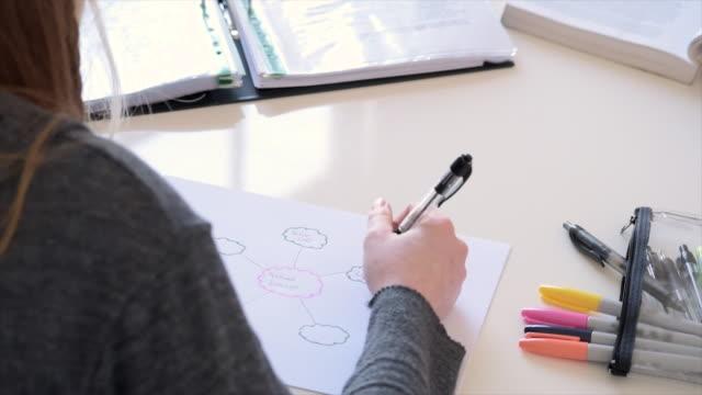Student Making Mindmap