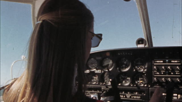 a student pilot flies a small airplane. - pilot stock videos & royalty-free footage
