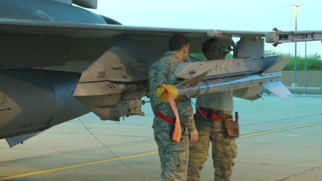 student pilots from the 149th fighter wing from lackland afb tx prebrief and taxi for takeoff to fly f16d fighting falcons for coronet cactus a... - lackland air force base stock videos and b-roll footage
