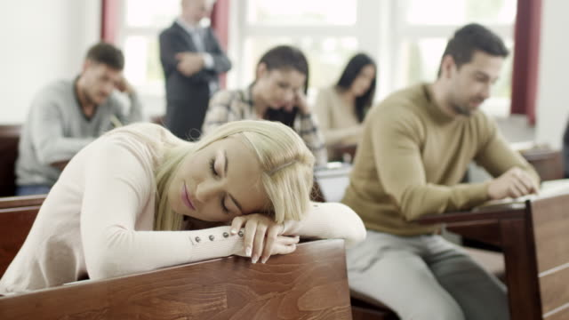 student sleeping in classroom - snoring stock videos and b-roll footage