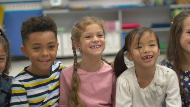 student smiling and laughing - elementary school stock videos & royalty-free footage