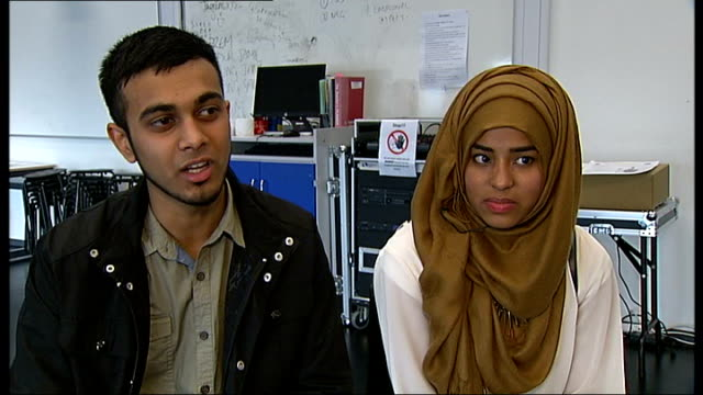 student stabbed to death in poplar scored top grade gcse results imran chowdhury interview sot - general certificate of secondary education stock videos & royalty-free footage