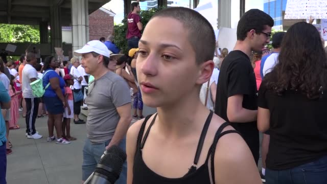 A student survivor of the Parkland school shooting called out US President Donald Trump over his ties to the powerful National Rifle Association in a...