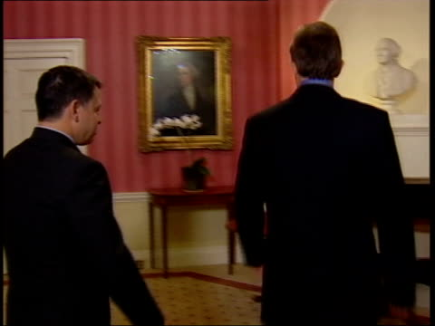 tony blair remains defiant downing street tony blair along into room with king abdullah of jordan pair shake hands nat - pair stock videos & royalty-free footage