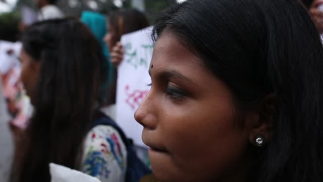 students and protesters gather to attend a climate strike rally in dhaka bangladesh on september 20 2019 bangladeshi people joined together in front... - strike protest action stock videos and b-roll footage