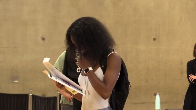 students at ark evelyn grace academy in lambeth, london, receive their gcse results. the proportion of gcse entries in england awarded top grades has... - general certificate of secondary education stock videos & royalty-free footage
