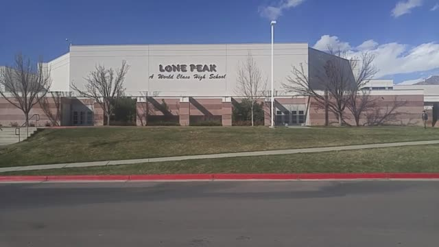 students at lone peak high school are upset with their english teacher after they say she forced them to talk about their deepest secrets in class... - bildungseinrichtung stock-videos und b-roll-filmmaterial