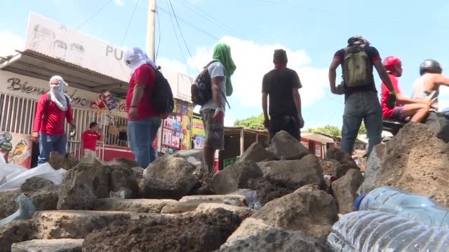 students at one of the main universities in managua say they are under attack from the police as pressure mounts on nicaraguan president daniel... - managua stock videos & royalty-free footage