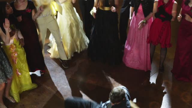 ws ha students (10-18) at prom, boy breakdancing / cedar hills, utah, usa - evening gown stock videos & royalty-free footage