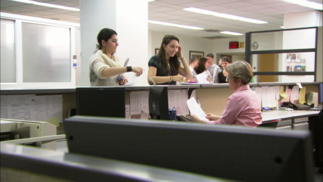 MS Students at registrar's desk, Brooklyn, New York City, USA