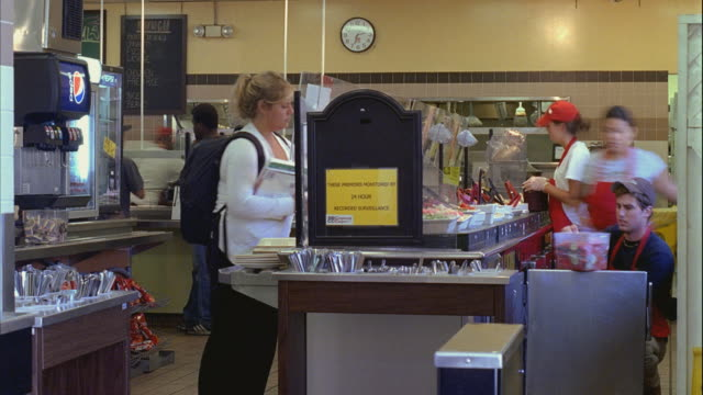 t/l ms students at santa barbara city college cafeteria / california, usa - santa barbara california stock videos and b-roll footage