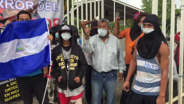 students at the polytechnic university in managua say they want the ousting of president daniel ortega rather than talks but that they are also... - managua stock videos & royalty-free footage