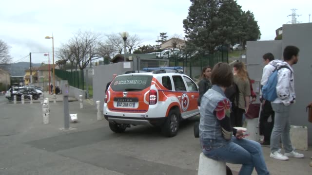 Students at the Tocqueville de Grasse high school in France returned to class four days after a shooting by a student there wounded several pupils...