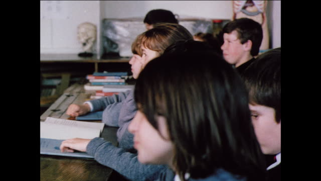 montage students attend science classes at school / uk - 1970 stock videos & royalty-free footage