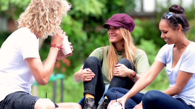 Students chatting at the campus