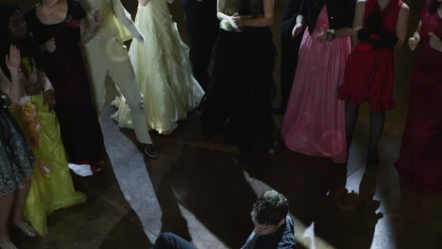 ms ha students (10-18) dancing at prom / cedar hills, utah, usa - high school prom stock videos and b-roll footage