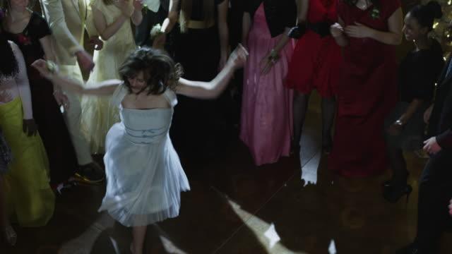 ms ha students (10-18) dancing at prom / cedar hills, utah, usa - prom stock videos & royalty-free footage