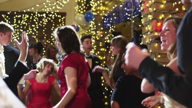 slo mo ms students (12-18) dancing on prom night / cedar hills, utah, usa - high school prom stock videos and b-roll footage