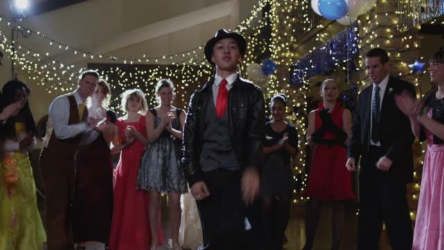 ms tu students (12-18) dancing on prom night / cedar hills, utah, usa - high school prom stock videos and b-roll footage