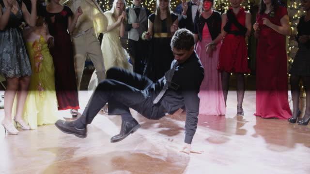 ws students (12-18) dancing on prom night / cedar hills, utah, usa - high school prom stock videos & royalty-free footage