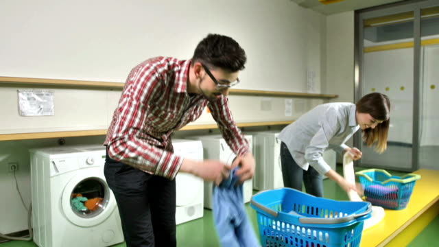 MS TU Students Doing The Laundry