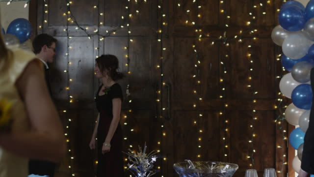 ms students drinking punch on prom night / cedar hills, utah, usa - dinner jacket stock videos & royalty-free footage