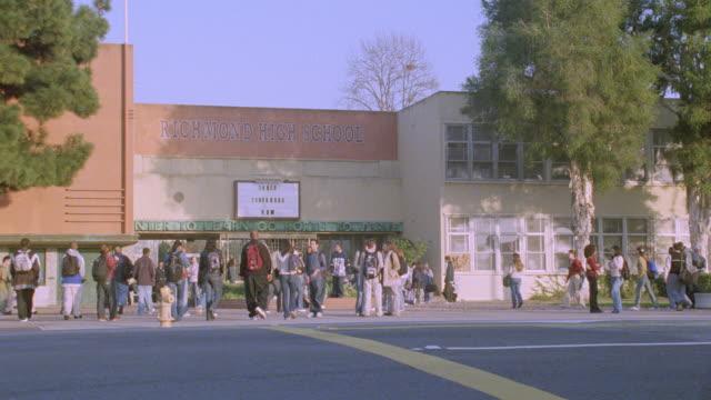 students enter richmond high school. - 2004 stock videos & royalty-free footage