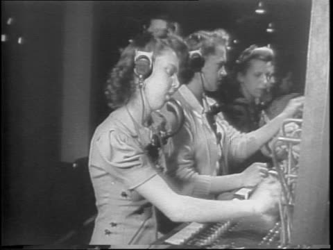 students enter ridgewood new jersey high school building / female students working at sewing machines / close up of girl sewing / male students... - telephone switchboard stock videos and b-roll footage