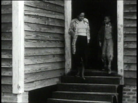 1939 ms students exiting school / lowndes county, alabama, united states - alabama video stock e b–roll