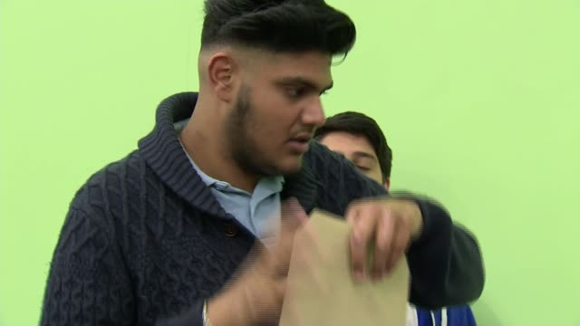 students get gcse results amid biggest shake up in years england leicester rushey mead academy int happy student saying 'yes' sot student reading out... - librarian stock videos & royalty-free footage