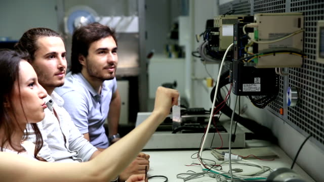 Students in Control and Automation Laboratory