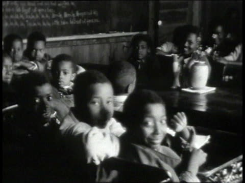 1939 montage students in school classroom / lowndes county, alabama, united states - alabama video stock e b–roll