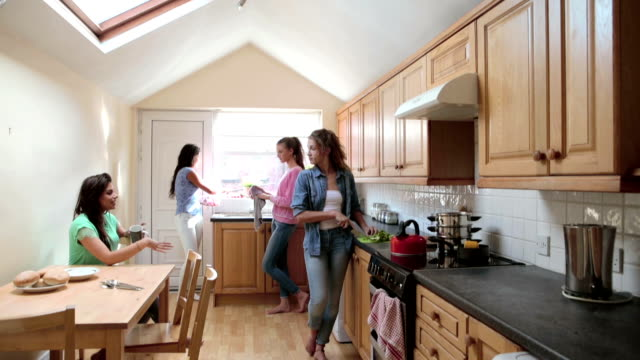 Students in the Kitchen