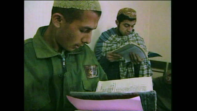 """students learn english in school in taliban controlled kandahar; 2000. - """"bbc news"""" stock videos & royalty-free footage"""
