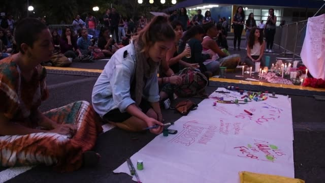 students of the university of costa rica hold a vigil in san jose in support of the protests taking place in nicaragua against the government of... - san jose costa rica stock videos & royalty-free footage