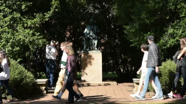 students on grounds at the university of virginia - university of virginia stock videos & royalty-free footage
