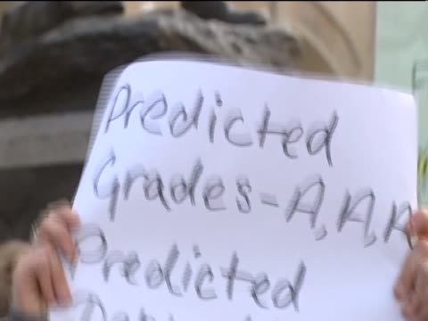 Students protest in Monmouth against the proposed rises in university tuition fees