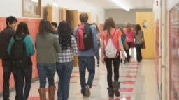 Students rush to class