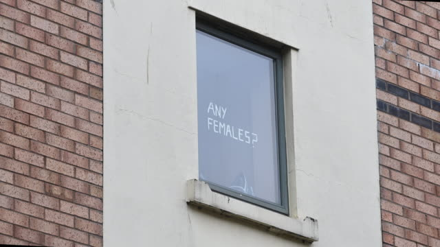 students self-isolating at talybont south halls of residence at cardiff university display messages in their window on october 12 in cardiff, wales.... - adolescence stock videos & royalty-free footage