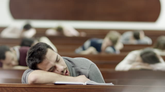 students sleeping in classroom - snoring stock videos and b-roll footage