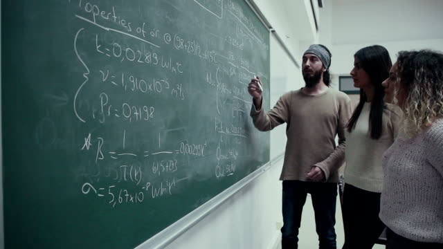 students studying in classroom - mathematics stock videos & royalty-free footage