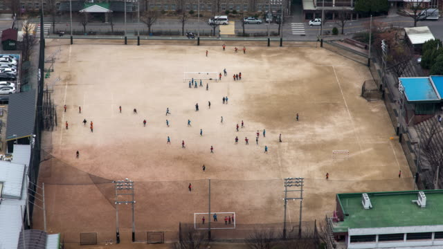 students taking a class at their school yard in mapogu, seoul - sand stock videos & royalty-free footage